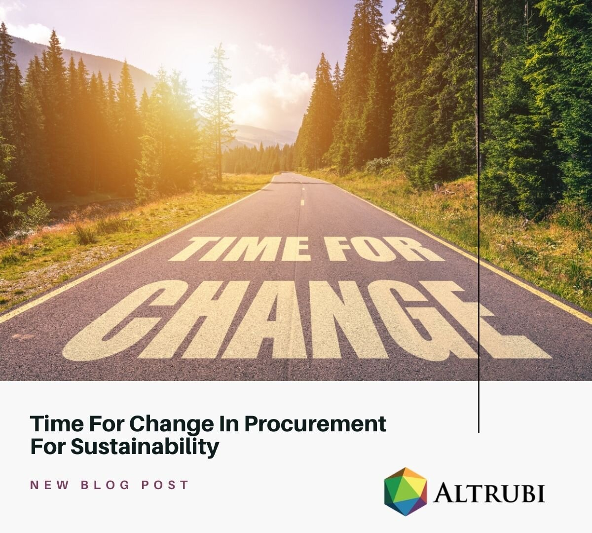 Time for Change - Procurement for sustainability